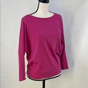 Lole fitted waist open back top
